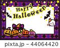 ハロウィン かぼちゃ コウモリ 猫 おばけ ポストカード 44064420