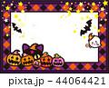 ハロウィン かぼちゃ コウモリ 猫 おばけ ポストカード 44064421