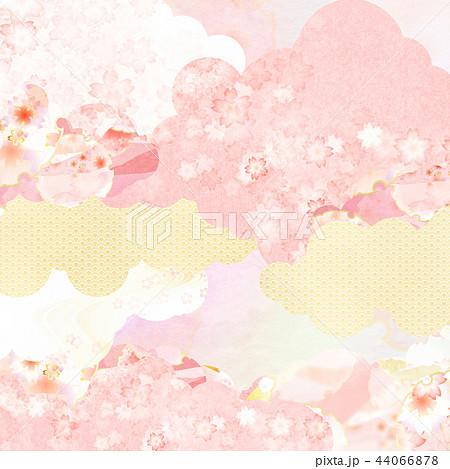 和-背景-和紙-春-桜-ピンク 44066878