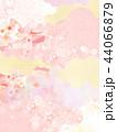 桜 和紙 ピンクのイラスト 44066879