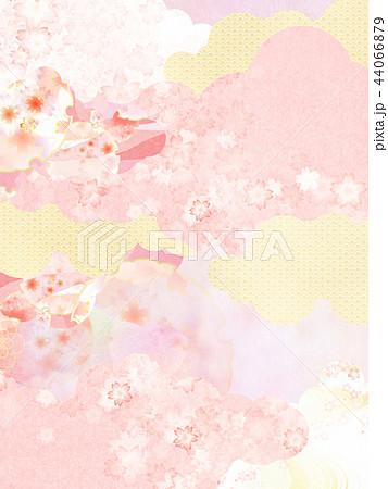 和-背景-和紙-春-桜-ピンク 44066879