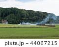 農村風景 初秋 稲架掛けの写真 44067215