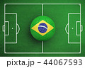 Composite image of football in brasil colours 44067593