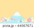富士山 和柄 花のイラスト 44067671