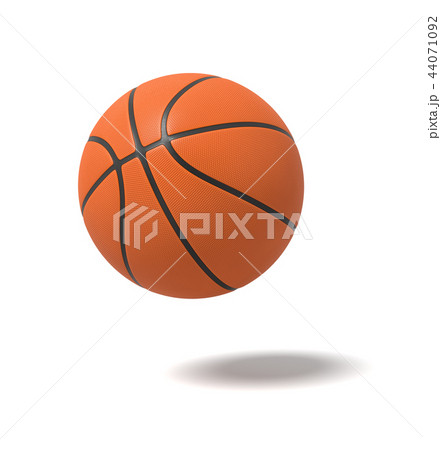 3d rendering of an orange basketball with black stripes over the