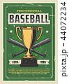 ベースボール 白球 野球のイラスト 44072234