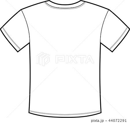 メンズ Tシャツ イラスト 背面のイラスト素材 44072291 Pixta