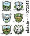 GOLF ゴルフ スポーツのイラスト 44072363
