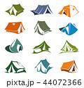 テント テント設営 キャンプのイラスト 44072366