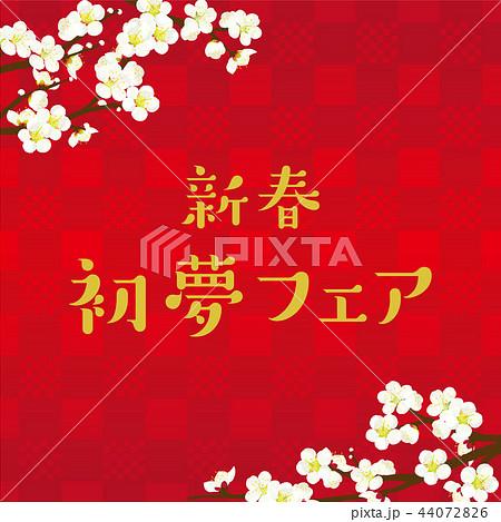 梅の花 イラスト 44072826