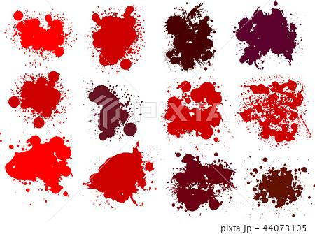 血痕 血飛沫 ハロウィン イラストのイラスト素材 44073105 Pixta