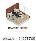 コーヒー ロースト 焼けるのイラスト 44075785