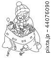ゆきだるま スノーマン 雪だるまのイラスト 44076090