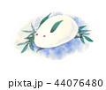冬 雪 うさぎのイラスト 44076480
