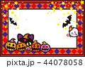 ハロウィン かぼちゃ コウモリ 猫 おばけ ポストカード 44078058