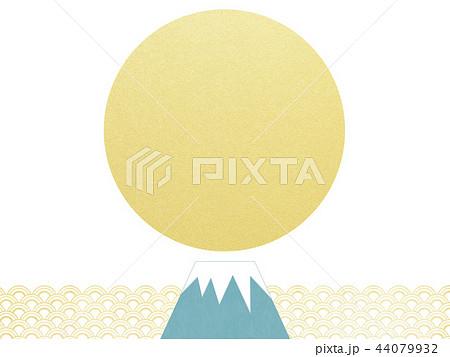 和-背景-富士山-日の出-和風-和柄-正月-年賀 44079932