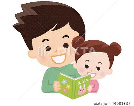 絵本を読む親子 44081337