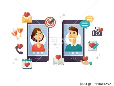 Online dating app - modern vector colorful illustration 44084252