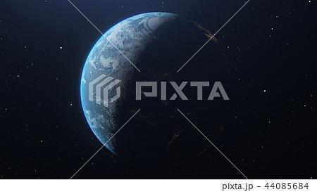 青い地球 perming3DCG イラスト素材 44085684