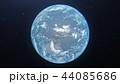 青い地球 perming3DCG イラスト素材 44085686