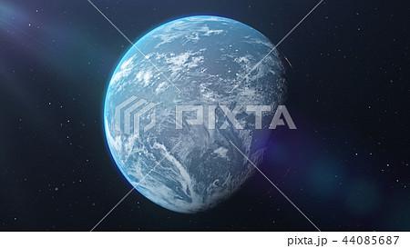 青い地球 perming3DCG イラスト素材 44085687