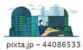 ビジネス 都市景観 近代的のイラスト 44086533