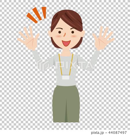ビジネス 女性 カジュアル ビジネスカジュアル スタッフ 44087497