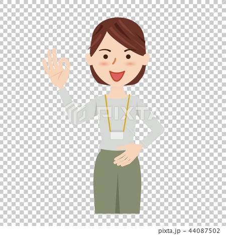 ビジネス 女性 カジュアル ビジネスカジュアル スタッフ 44087502