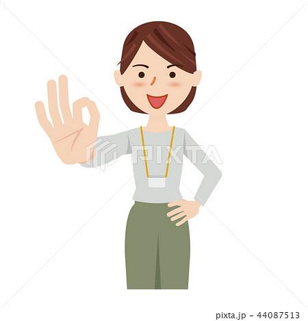 ビジネス 女性 カジュアル ビジネスカジュアル スタッフ 44087513
