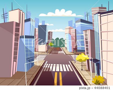 cartoon urban crossroad concept 44088401