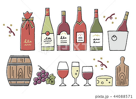 ワイン手描き 44088571