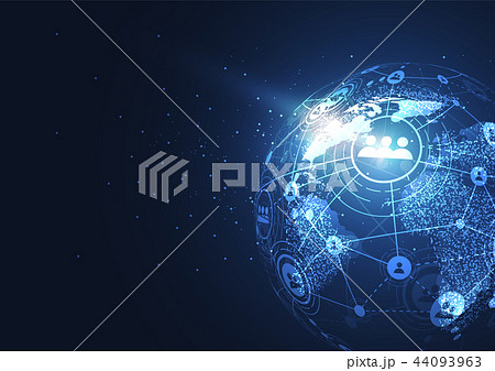 Global network connection. World map point 44093963
