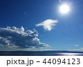 雲 風景 ブルーの写真 44094123