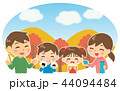 ピクニック 家族 お弁当のイラスト 44094484