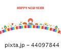 年賀状 かわいい 亥年のイラスト 44097844