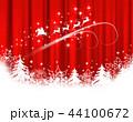 クリスマス 背景 積雪のイラスト 44100672