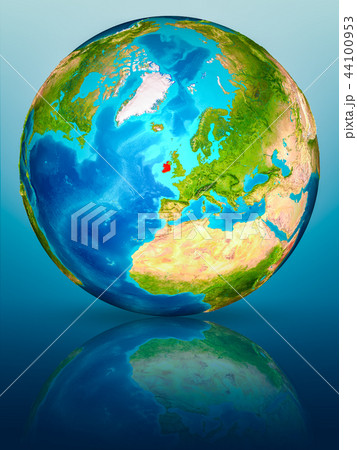 Ireland on Earth on reflective surface 44100953
