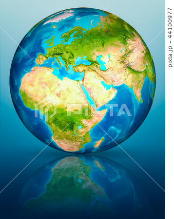Israel on Earth on reflective surface 44100977
