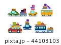 車 自動車 貨車のイラスト 44103103