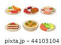 食 料理 食べ物のイラスト 44103104