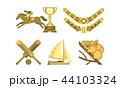 National symbols of Australia, travel to Australia famous landmarks vector Illustration on a white 44103324