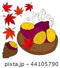 さつま芋 紅葉 秋のイラスト 44105790