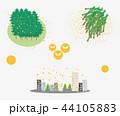 スギ花粉 花粉 白バックのイラスト 44105883