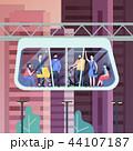 モノレール キャビン 持ち上げるのイラスト 44107187