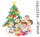 クリスマス 家族 ファミリーのイラスト 44107955