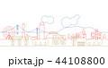 街並 線画 神戸 44108800