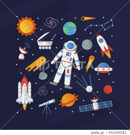Space flat square concept 44109581