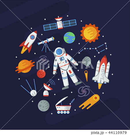 Space flat round concept 44110979