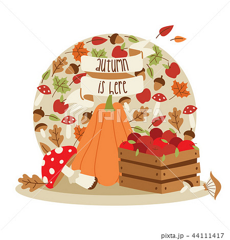 vector autumn time thanksgiving decoration elements happy lettering