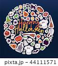 ハロウィン シンボル デザインのイラスト 44111571